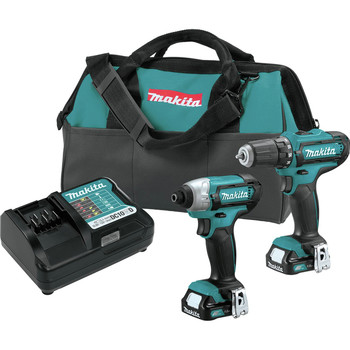 Makita CT226-R CXT 12V Max Cordless Lithium-Ion 1/4 in. Impact Driver and 3/8 in. Drill Driver Combo Kit