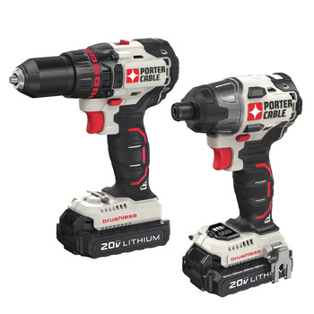 Porter-Cable PCCK618L2 20V MAX Cordless Lithium-Ion Brushless Drill and Impact Driver Combo Kit