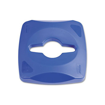 Rubbermaid 1788374 Untouchable Single Stream Recycling Top (Blue)