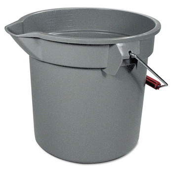Rubbermaid 261400GY 14 Quart Round Utility Bucket (Gray)