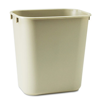Picture of Rubbermaid 295500BG 35 Gal Desk side Plastic Wastebasket Beige