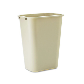 Picture of Rubbermaid 295700BG 1025 Gal Desk side Plastic Wastebasket Beige