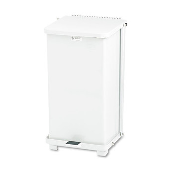 Picture of Rubbermaid ST12EPLWH Defenders 12 Gal Biohazard Step Can White