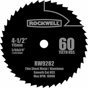Rockwell RW9282 4-1/2 in. 60T HSS Compact Circular Saw Blade