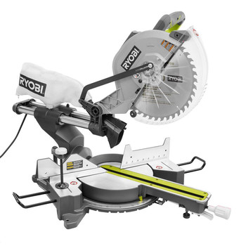 Ryobi ZRTSS120L 15 Amp 12 in. Sliding Compound Miter Saw with Laser