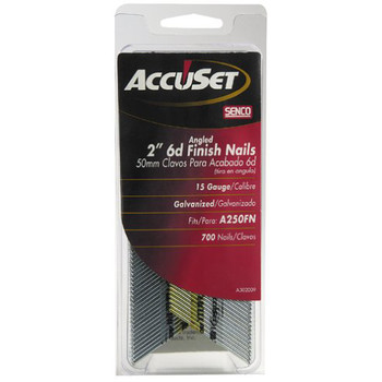 SENCO A302009 15-Gauge 2 in. Electro-Galvanized Angled Finish Nails (700-Pack)
