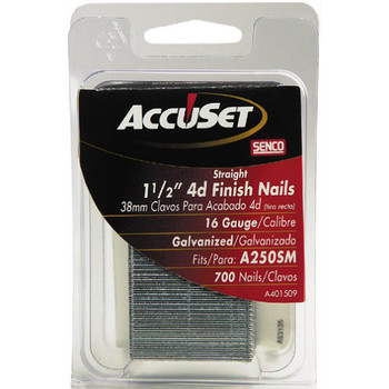 SENCO A401509 16-Gauge 1-1/2 in. Straight Strip Finish Nails (700-Pack)