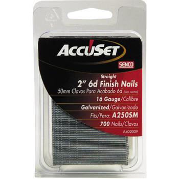 SENCO A402009 16-Gauge 2 in. Straight Strip Finish Nails (700-Pack) Sale $4.99 SKU: SENNA402009 ID# A402009 UPC# 741474700798 :