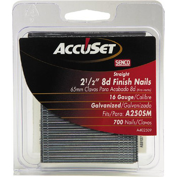 SENCO A402509 16-Gauge 2-1/2 in. Straight Strip Finish Nails (700-Pack)