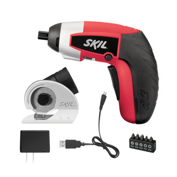 Skil 2354-12-RT 4V IXO Compact Max Lithium-Ion Driver with Cutter Attachment and 5-Piece Bit Set