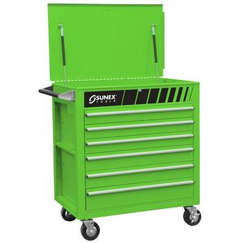 Sunex Tools 8057G Premium Green Full Drawer Service Cart