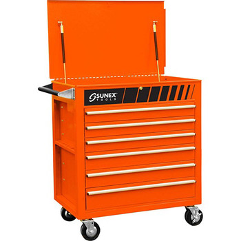 Sunex Tools 8057O Premium Orange Full Drawer Service Cart