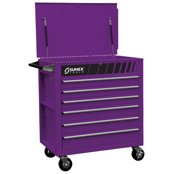 Sunex Tools 8057P Premium Purple Full Drawer Service Cart