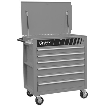 Sunex Tools 8057S Premium Silver Full Drawer Service Cart