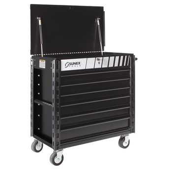 Sunex Tools 8057XT Full Drawer Professional Service Cart with Textured Finish