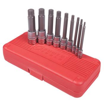 Sunex Tools 9929 9-Piece Long Triple Square Bit Socket Set