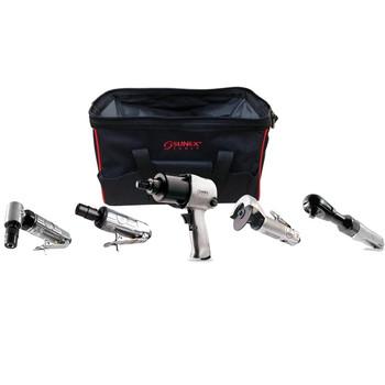 Sunex Tools SX231PBAGPR Pneumatic 5-Piece Air Tool Combo Kit