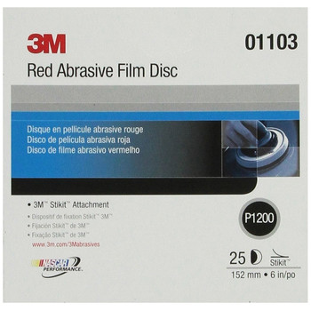 Picture of 3M 1103 6 in P1200 Red Abrasive Stikit Disc 25-Pack