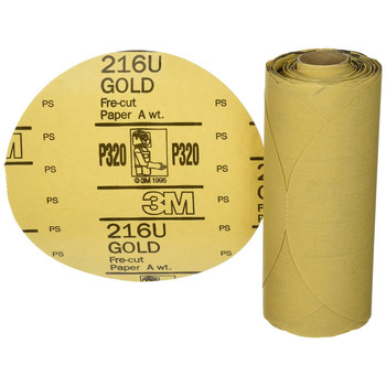 Picture of 3M 1205 6 in Stikit Gold P320 Grade Sanding Discs 75-Pack