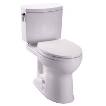 Picture of TOTO C454CUFG-01 Drake Elongated Floor Mount Toilet Bowl Cotton White