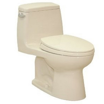 TOTO MS854114S-03 UltraMax Elongated 1-Piece Floor Mount Toilet with SoftClose Seat (Bone)