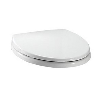 TOTO SS114-01 SoftClose Elongated Polypropylene Closed Front Toilet Seat & Cover (Cotton White)
