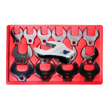 V8 Tools 7814 14-Piece 1/2 in. Drive SAE Jumbo Crowfoot Wrench Set
