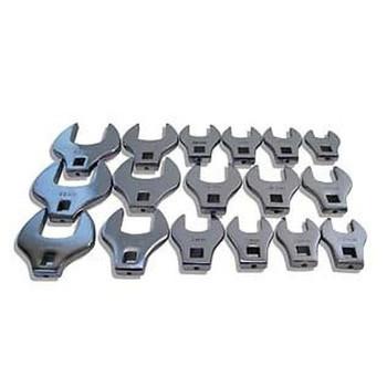V8 Tools 7917 17-PIece 1/2 in. Drive Metric Jumbo Crowfoot Wrench Set