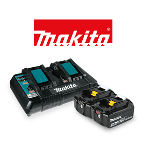 FREE Makita 18V LXT 5 Ah Battery (2-Pack) and Dual Port Charger Kit