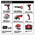 Milwaukee 2696-26 M18 18V Cordless Lithium-Ion 6-Tool Combo Kit image number 14