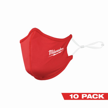 Milwaukee 48-73-4229 10-Piece 2-Layer Face Mask Set - Red