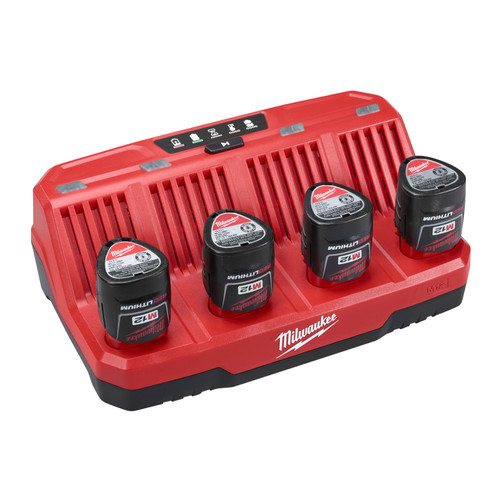 Milwaukee 48-59-1204 M12 12V Four Bay Sequential Charger