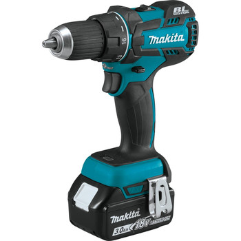 Makita XFD061 18V LXT Lithium-Ion Brushless Compact 1/2 in. Cordless Drill Driver Kit (3 Ah) image number 1