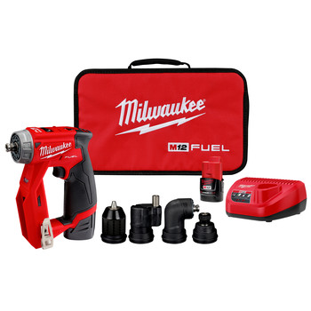 Factory Reconditioned Milwaukee 2505-82 M12 FUEL Brushless Lithium-Ion 3/8 in. Cordless Installation Drill Driver Kit (2 Ah)