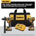 Dewalt DCK2100P2 20V MAX Brushless Cordless 1/2 in. Hammer Drill Driver / Impact Driver Combo Kit (5 Ah) image number 5