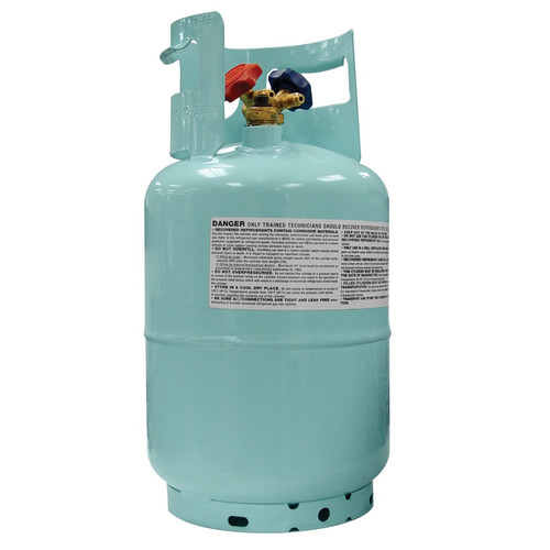 Mastercool 67010 Blue 1/2 in. ACME 30 lb. D.O.T-Approved Recovery Cylinder with Float Switch