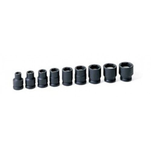 Grey Pneumatic 1209G 3/8 in. Drive 9-Piece Magnetic Impact Socket Set