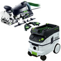 Festool DF 700 Domino XL Joiner Set with CT 26 E 6.9 Gallon HEPA Mobile Dust Extractor