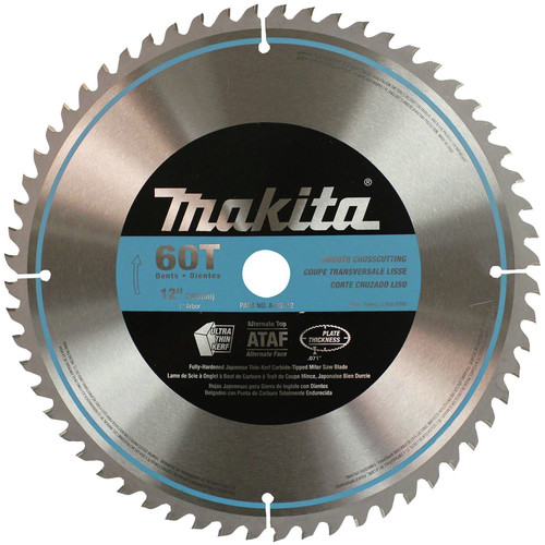 Makita A-93712 12 in. 60-Tooth Smooth Crosscutting Miter Saw Blade image number 0