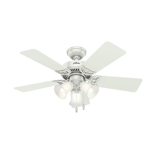 Hunter 51010 42 in. Southern Breeze White Ceiling Fan with Light image number 0