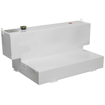 JOBOX 498000 98 Gallon Short-Bed L-Shaped Steel Liquid Transfer Tank - White