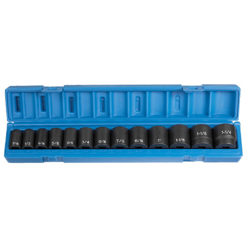 Grey Pneumatic 1312 13-Piece 1/2 in. Drive Standard Length SAE Impact Socket Set