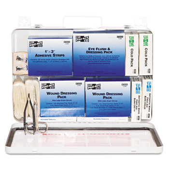 Pac-Kit 6450 50-Person Steel Case Industrial Weatherproof First Aid Kit