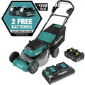 Makita XML08PT1 18V X2 (36V) LXT Lithium-Ion Brushless Cordless 21 in. Self-Propelled Commercial Lawn Mower Kit with 4 Batteries (5.0Ah) image number 1