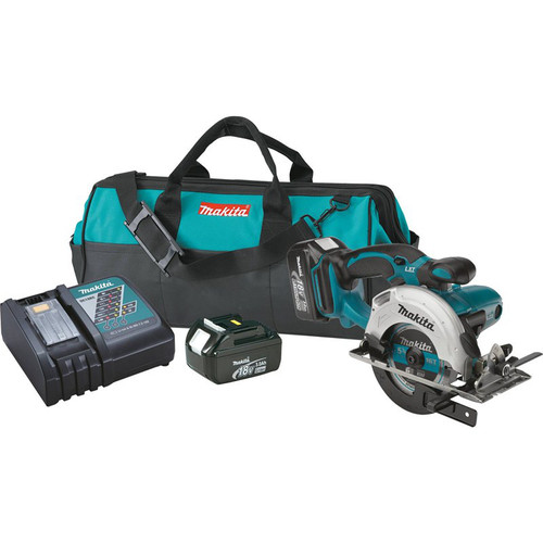 Makita XSS03 18V LXT 3.0 Ah Cordless Lithium-Ion 5-3/8 in. Circular Trim Saw Kit