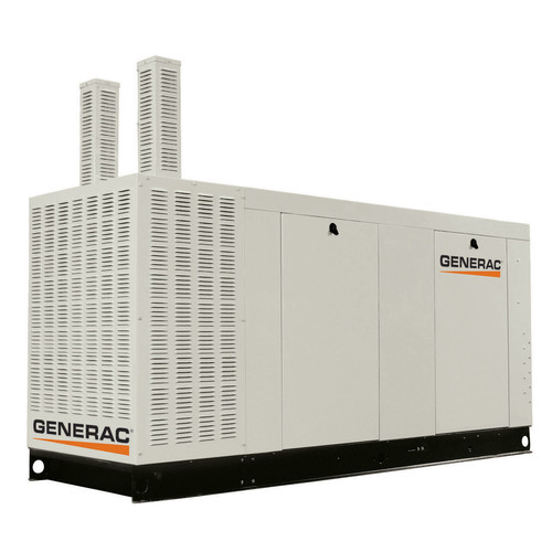 Generac QT10068JNAC Liquid-Cooled 6.8L 100kW 120/240V 3-Phase Natural Gas Aluminum Commercial Generator (CARB)