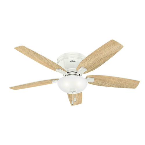 Hunter 53378 52 in. Kenbridge Fresh White Ceiling Fan with Light image number 7