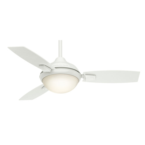 Casablanca 59153 44 in. Verse Fresh White Ceiling Fan with Light and Remote image number 0