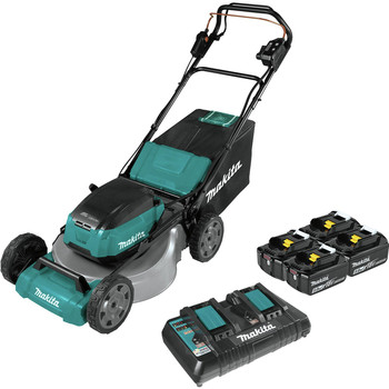 Makita XML08PT1 18V X2 (36V) LXT Lithium-Ion Brushless Cordless 21 in. Self-Propelled Commercial Lawn Mower Kit with 4 Batteries (5.0Ah)