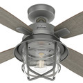 Hunter 50390 52 in. Port Royale Matte Silver Ceiling Fan with LED Light Kit and Remote image number 6